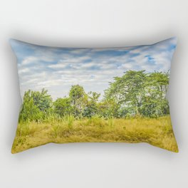Meadow Tropical Landscape Scene, Guayaquil, Ecuador Rectangular Pillow