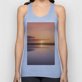 Mindfulness in the Sunrise Reflection at Mediterranean Sea in Valencia, Spain Unisex Tank Top