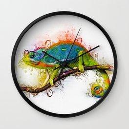 Chameleon Art Wall Clock
