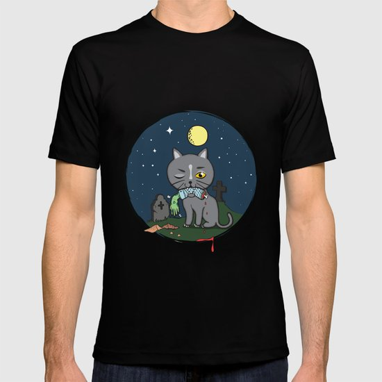 Cats love zombie meat! T-shirt