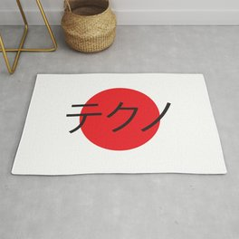Techno in Japanese letters Rug