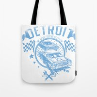 detroit Tote Bags featuring Detroit by Tshirt-Factory
