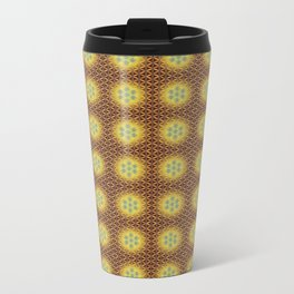 VIRGO sun sign Flower of Life repeat pattern Metal Travel Mug