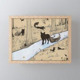 Forest Pack Framed Mini Art Print