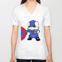 avenger V-neck T-shirts featuring Avenger Dog by Rocky Moose