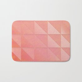 pink coral peach minimal geometric pattern with fading triangle stexture Bath Mat