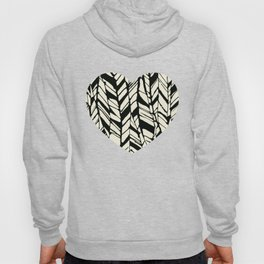 black and white feather texture Hoody