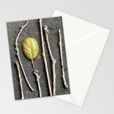 Leaf and twigs Stationery Cards