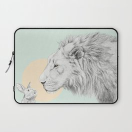 Lion and Bunny Laptop Sleeve