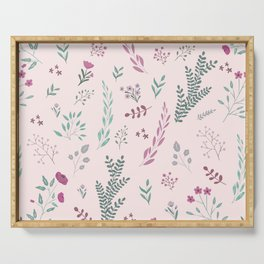 Floreal pattern Serving Tray