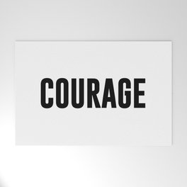 COURAGE Welcome Mat
