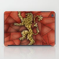 lannister iPad Cases featuring House Lannister Stained Glass by itsamoose