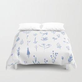 Wildflowers in blue Duvet Cover