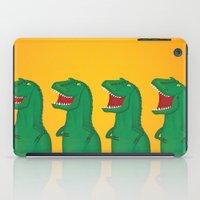 t rex iPad Cases featuring T-Rex by Yana Elkassova