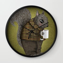 An Early Morning For Mister Squirrel Wall Clock