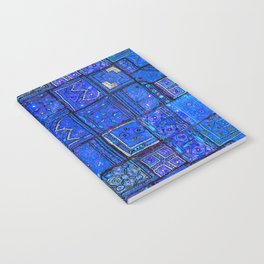V2 Calm Blue Traditional Moroccan Cloth Texture. Notebook