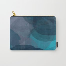 Abstract Watercolor Circles in Ombre Blue Carry-All Pouch