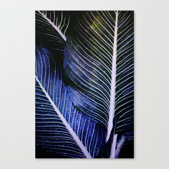 galactic leaves Canvas Print