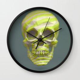 Yellow pop candy skull 3D render. Wall Clock