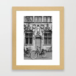 Bruges in Black & White Framed Art Print