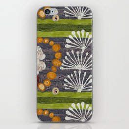 green number 5 iPhone Skin