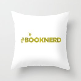 #BOOKNERD with scar Throw Pillow