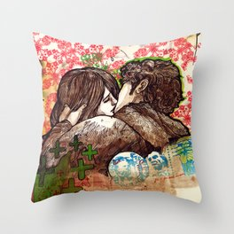 Spring that hasn't come yet Throw Pillow