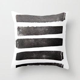 Black and White Stripes Throw Pillow