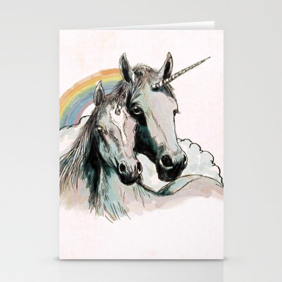 Unicorn III Stationery Cards