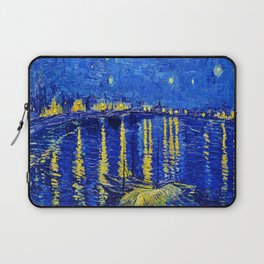 Starry Night Over Rhone Laptop Sleeve