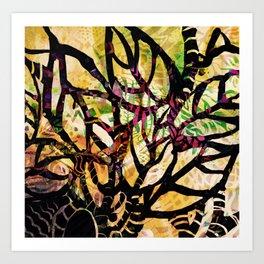 Black Tangle Art Print