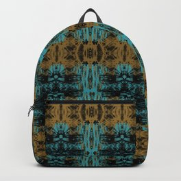 Corals & Dragonflies - Boston Blue, Golden & Black Dragonfly pattern by artestreestudio Backpack
