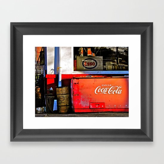 Outside the Station Framed Art Print
