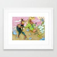 arsenal Framed Art Prints featuring Arsenal Girl Umu by Detrocboi