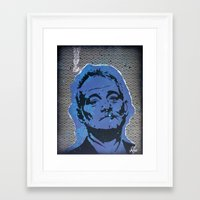 bill murray Framed Art Prints featuring Bill Murray by ChrisCleveland