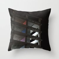 grid Throw Pillows featuring grid by jared smith
