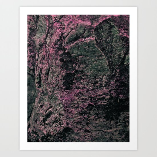 Moon Rock Art Print