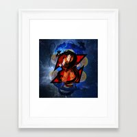 dbz Framed Art Prints featuring DBZ - Goku by Mr. Stonebanks