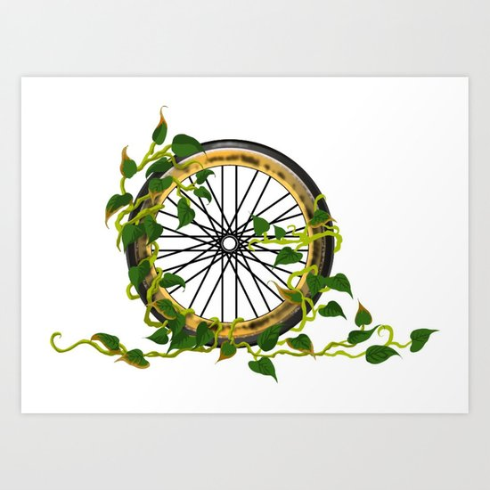 Ride On Ivy Art Print