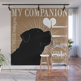 ROTTWEILER – My Companion - Brown Wall Mural