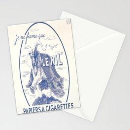 vintage placard le nil je ne fume que le nil Stationery Cards