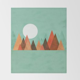 From the edge of the mountains Throw Blanket