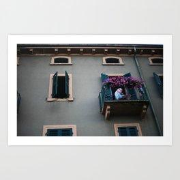 Balcone. Peschiera del Garda. Art Print