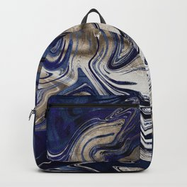 Marble Paint Swirl Trendy Abstract Glitter Gold Ultra Violet Backpack