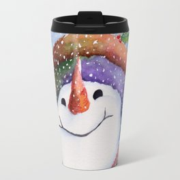 Winter Joy Snowman Travel Mug