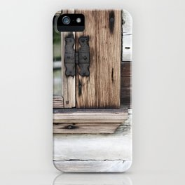 gray brown window frame iPhone Case