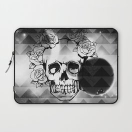 bw space skull  Laptop Sleeve