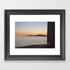 just beyond the ledge Framed Art Print