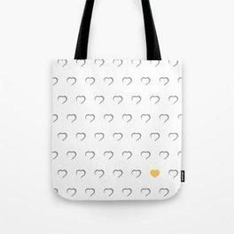 Hearts - Yellow Tote Bag
