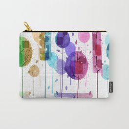 Colorful Geometric Forest Carry-All Pouch